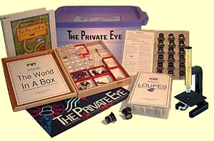 The Private Eye Class Kit showing contents